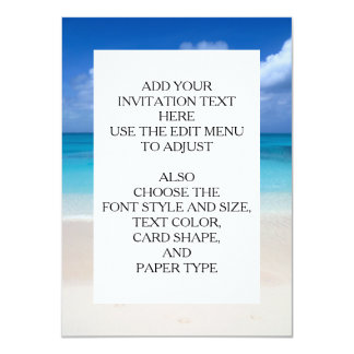 Leeward Beach   Turks and Caicos Photo 11 Cm X 16 Cm Invitation Card