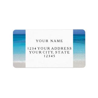 Leeward Beach | Turks and Caicos Photo Address Label