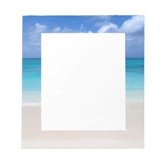 Leeward Beach   Turks and Caicos Photo Notepad
