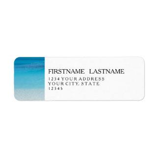 Leeward Beach   Turks and Caicos Photo Return Address Label