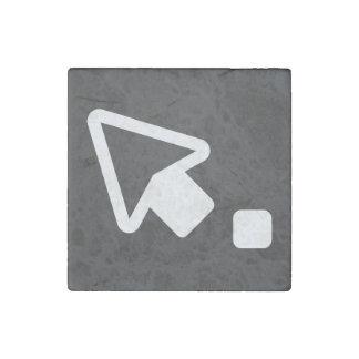 Left Cursors Sign Stone Magnet
