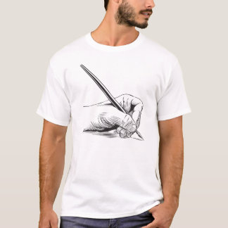 Left hand holding pen T-Shirt