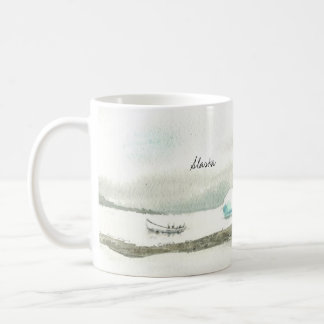 Left Handed Alaska Boat Trip Coffee Mug