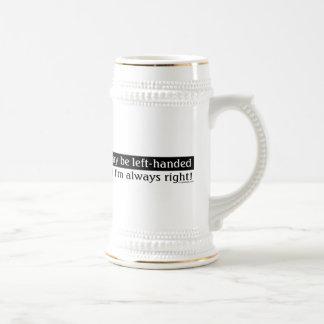 Left-handed people beer stein