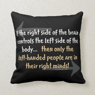 Left-handed people Funny Quote Cushion