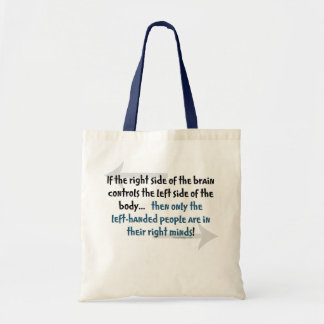 Left-handed people Humor Budget Tote Bag