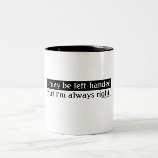 Left-handed people mugs
