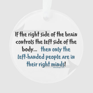 Left-handed people ornament