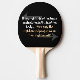 Left-handed people ping pong paddle