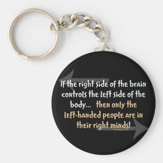 Left-handed people Saying Key Ring