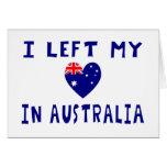 Left heart Australia Greeting Card