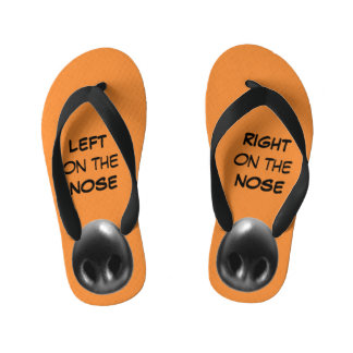 LEFT on the NOSE/RIGHT on the NOSE Kid's Flip Flops