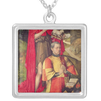 Left panel, from the main altar polyptych silver plated necklace