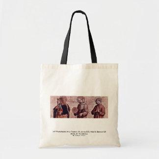 Left Predellatafel Altar Triptych Tote Bags