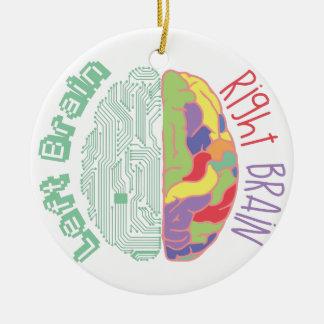 Left & Right Brain Christmas Ornament