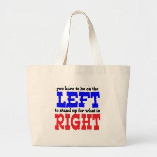 Left Right Jumbo Tote Bag