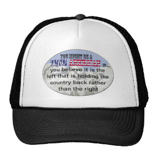 left side right side trucker hat