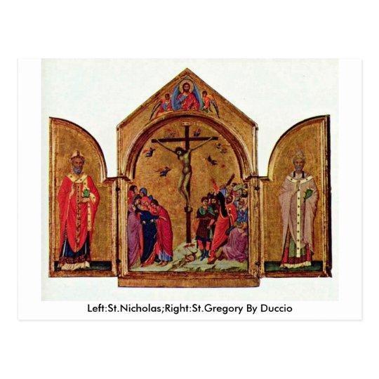 Left:St.Nicholas;Right:St.Gregory By Duccio Postcard