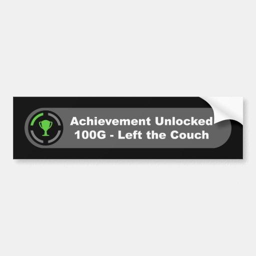 Left the Couch - Achievement Unlocked Bumper Stickers