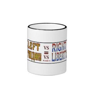 LEFT VS RIGHT RINGER MUG