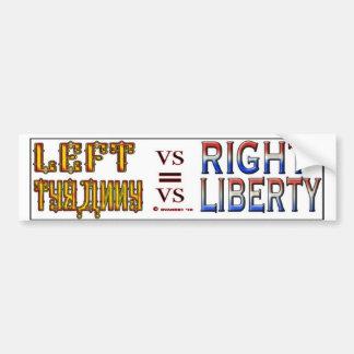 LEFT VS RIGHT S BUMPER STICKER