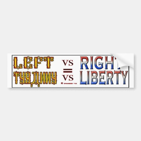 LEFT VS RIGHT S BUMPER STICKER