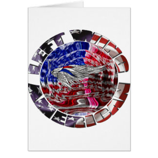 Left Wing American Greeting Card