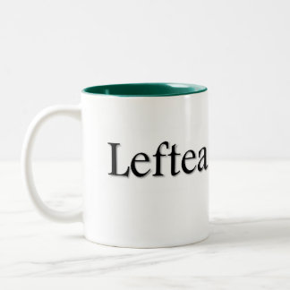 Leftea Left Handed Tea Two-Tone Coffee Mug