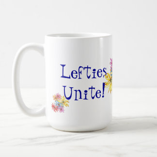 Lefties Left-handed Floral Art Coffee Mug