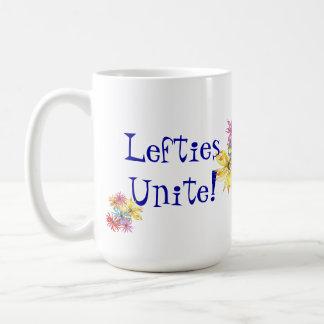 Lefties Left-handed Floral Art Coffee Mug