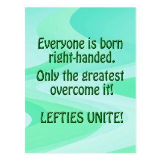 Lefties Unite Postcard