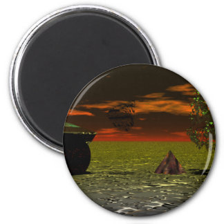 Leftover Earth Forms - CricketDiane Art Products 6 Cm Round Magnet