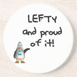 Lefty and Proud of it! Left handed funny sayings Drink Coasters