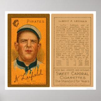 Lefty Leifeld Pirates Baseball 1911 Poster