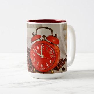 Lefty! Pretty & Funny Red Clock Coffee Mug! Two-Tone Coffee Mug
