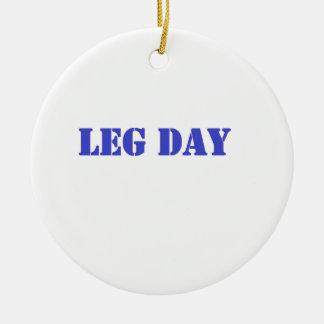 leg day blue ornaments