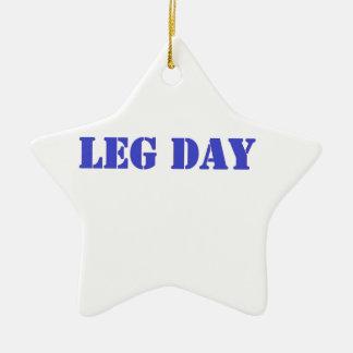 leg day blue christmas ornaments