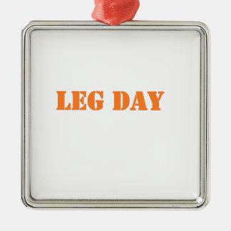 leg day orange ornament