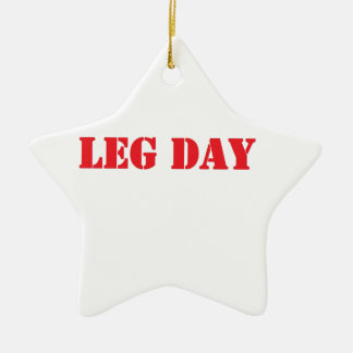 leg day red christmas ornaments