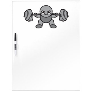 Leg Day - Squat - Kawaii Weightlifter Dry Erase Whiteboard