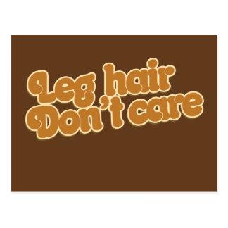 Leg hair don't care postcard