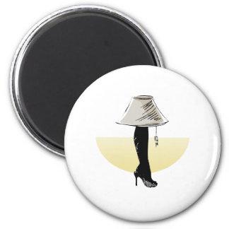 Leg lamp 6 cm round magnet