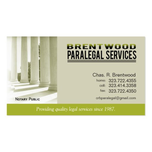 Uk Paralegal Business Cards Examples Of