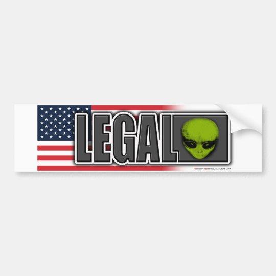 LEGAL ALIEN BUMPER STICKER