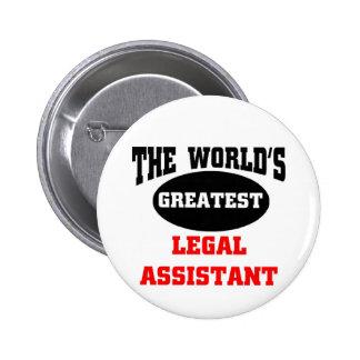 Legal assistant 6 cm round badge