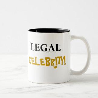 Legal Celebrity! Add Your Name Two-Tone Coffee Mug