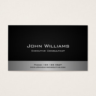 Legal consulting professional straight business card