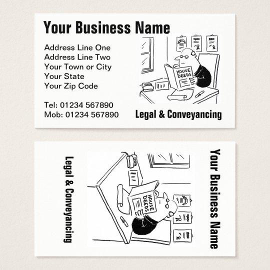 Legal & Conveyancing Cartoon Business Card