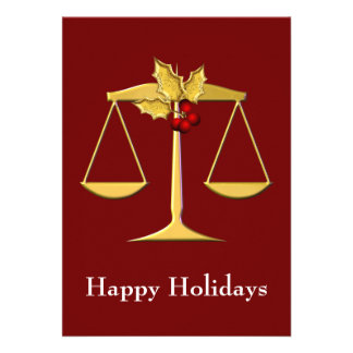 Legal Lawyer profession Holiday Cards