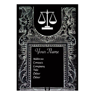 LEGAL OFFICE, ATTORNEY Monogram grey Business Card
